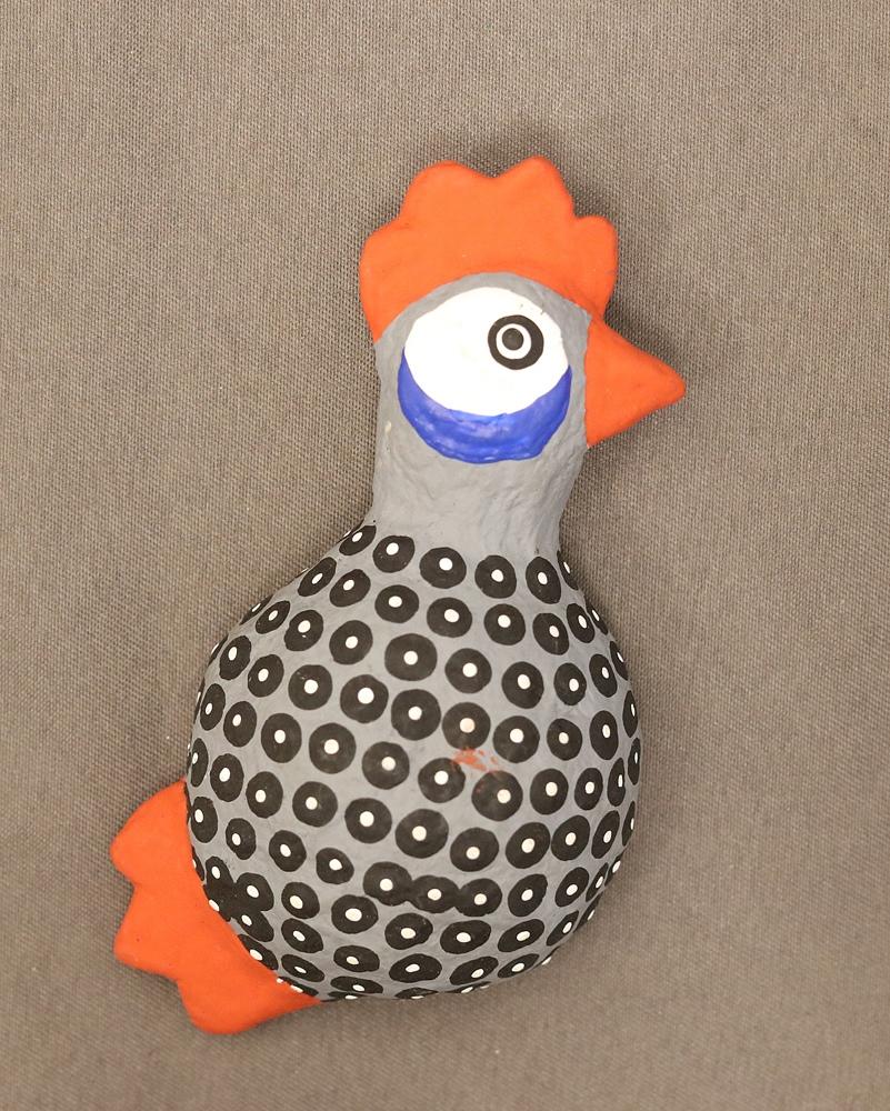 Chicken magnet (Paper mache)