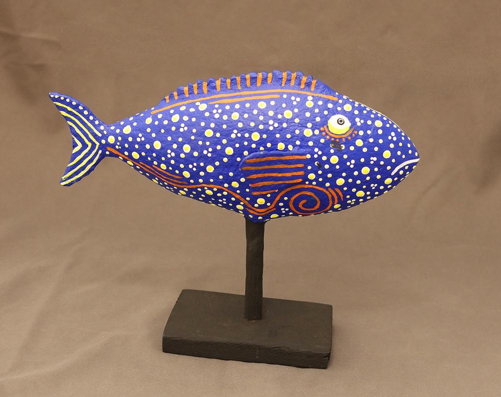 Kikolo Blue Fish (Paper mache)
