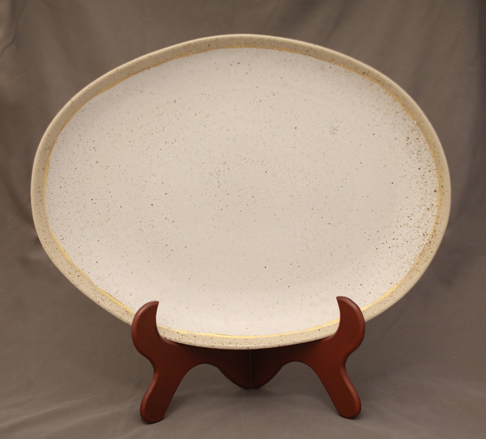 XL Platter with golden file
